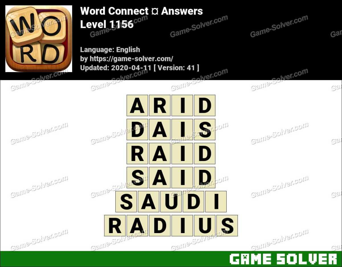 Word Connect Level 1156 Answers