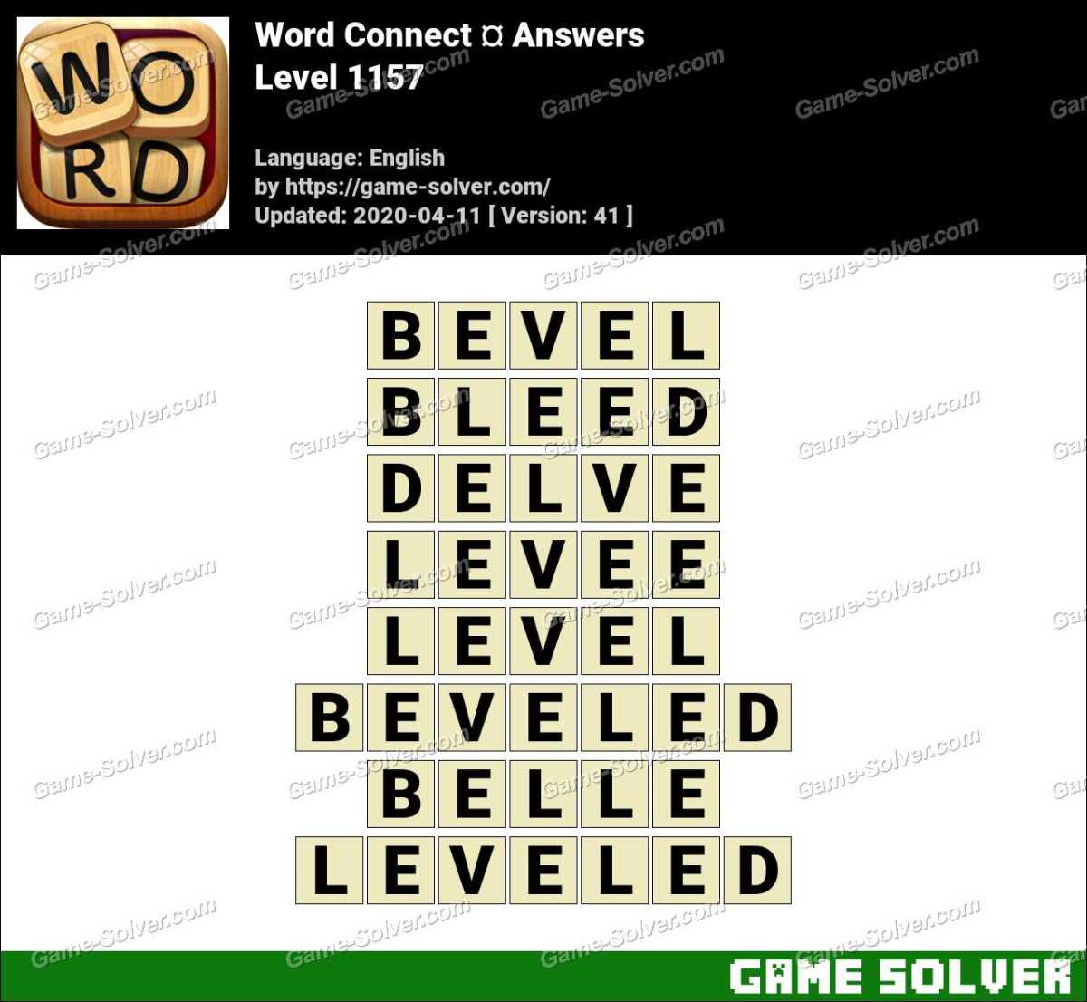 Word Connect Level 1157 Answers