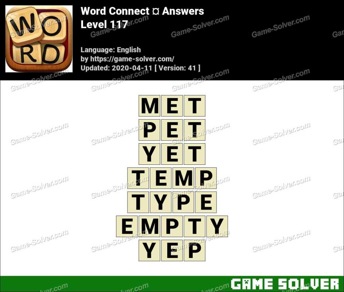 Word Connect Level 117 Answers