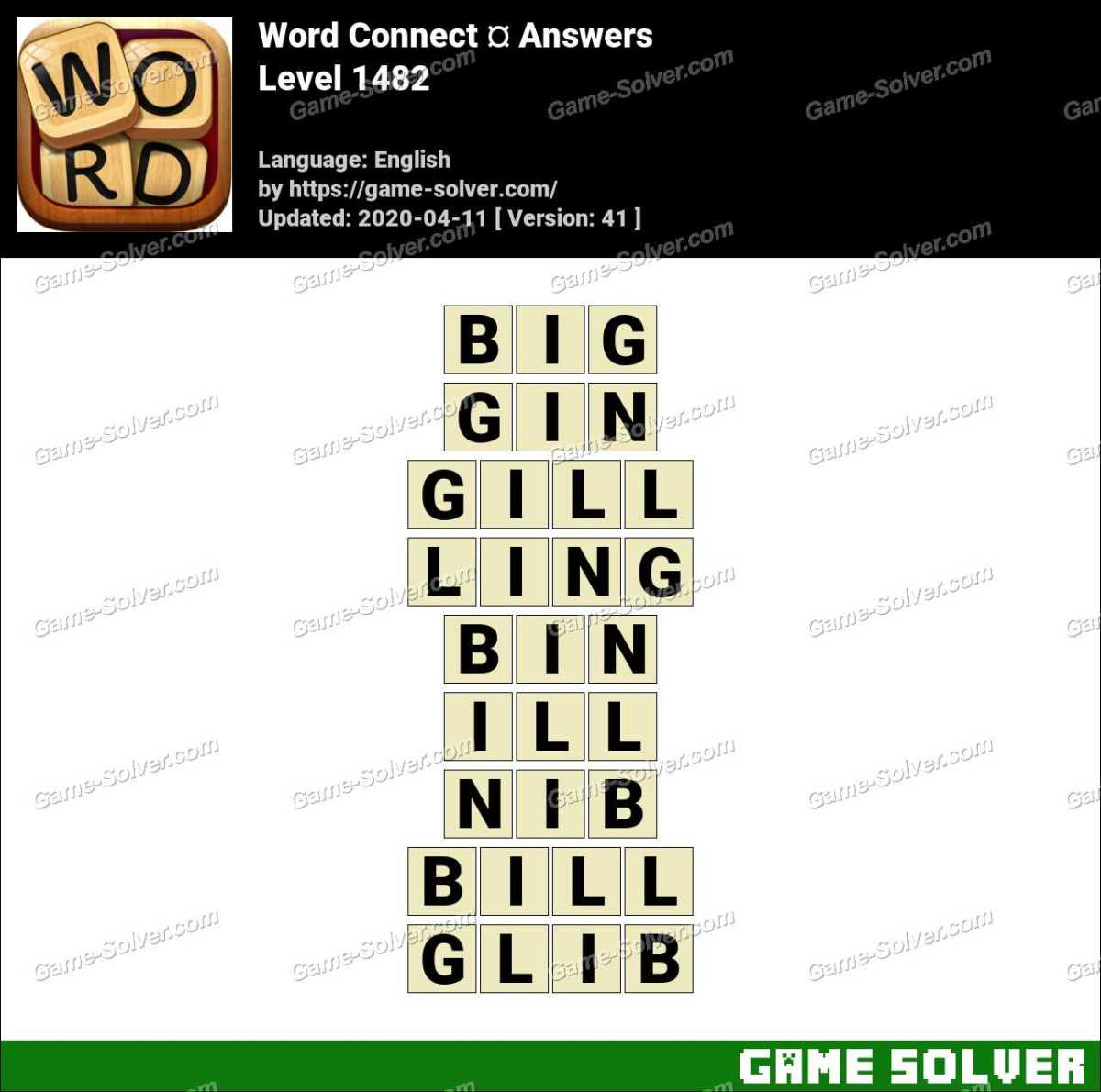 Word Connect Level 1482 Answers