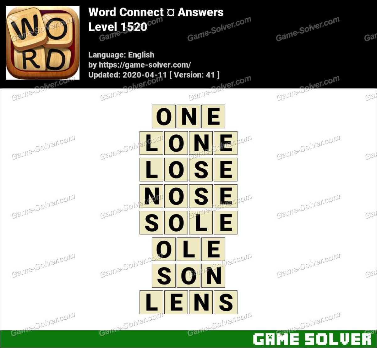 Word Connect Level 1520 Answers