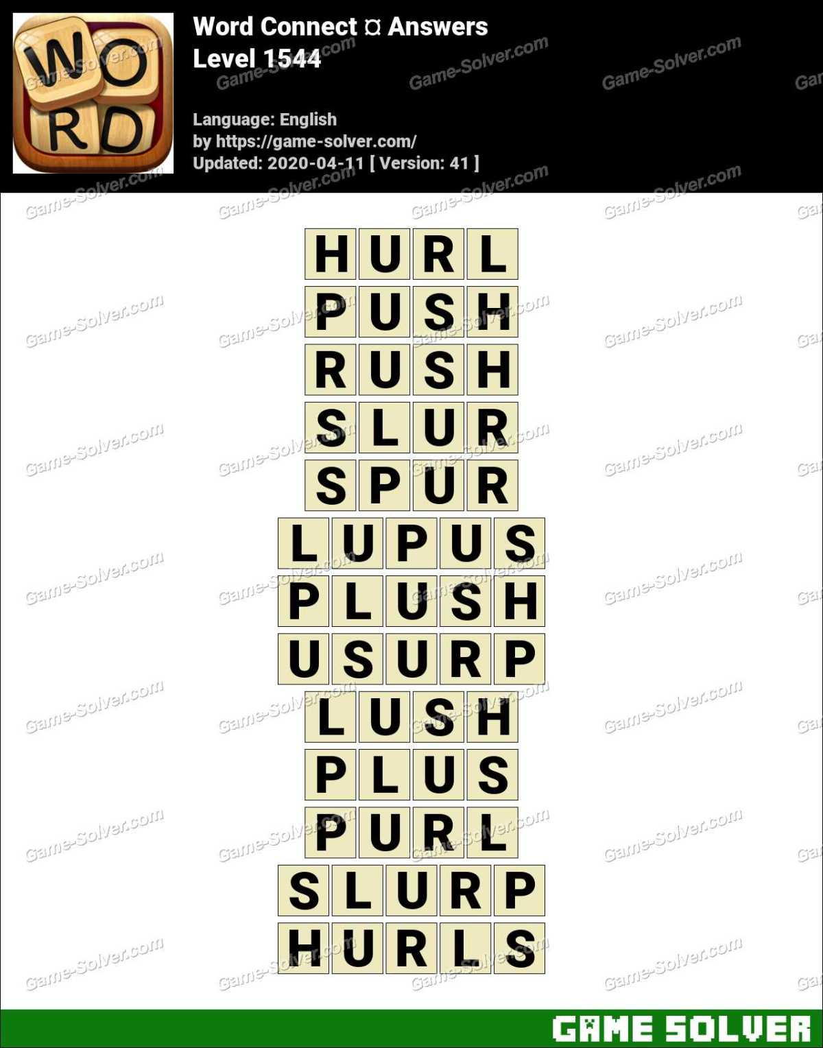 Word Connect Level 1544 Answers