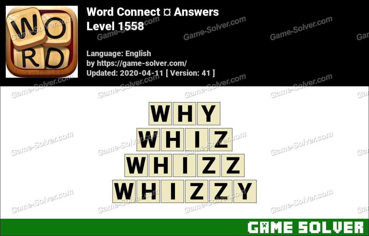 Word Connect Level 1558 Answers