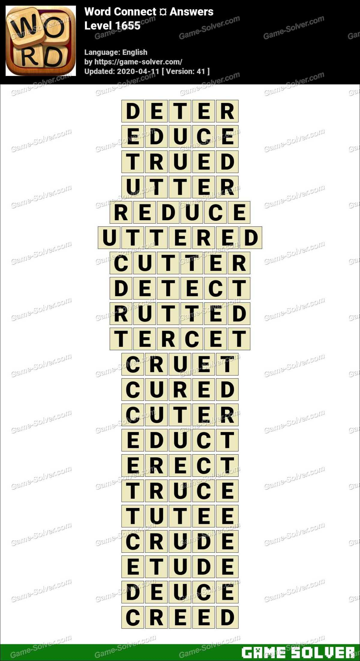 Word Connect Level 1655 Answers