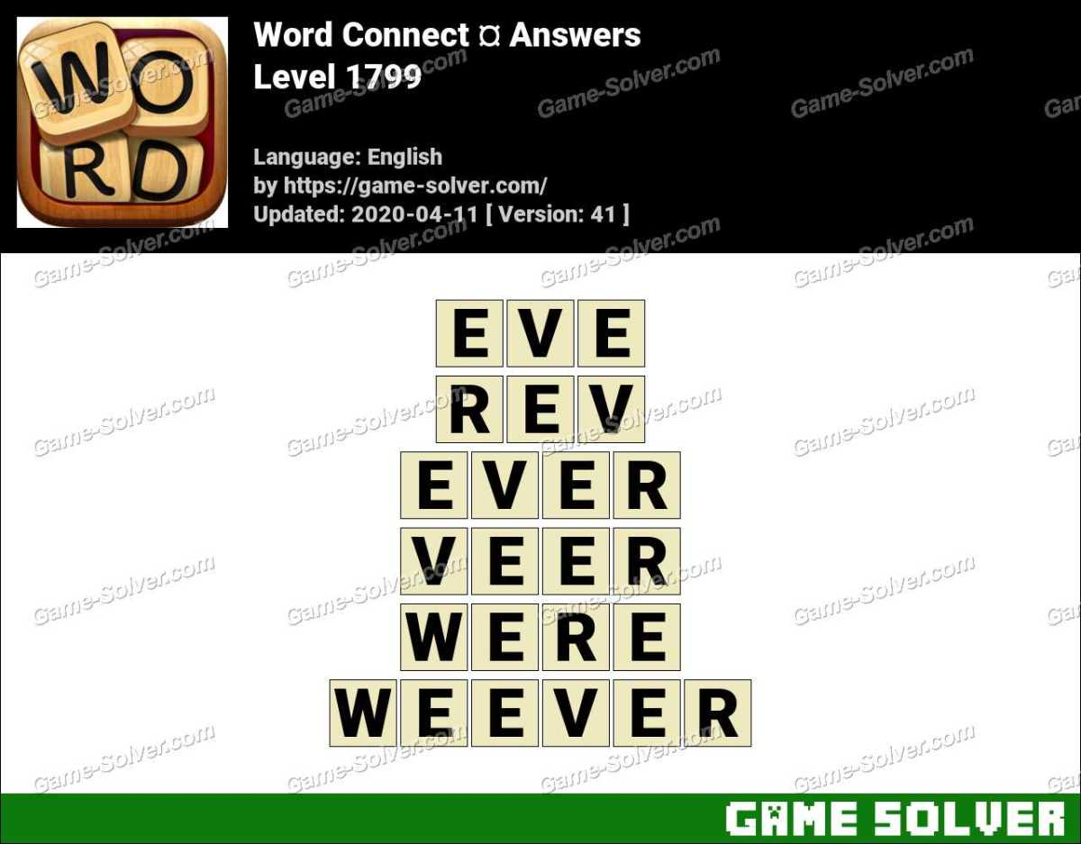 Word Connect Level 1799 Answers