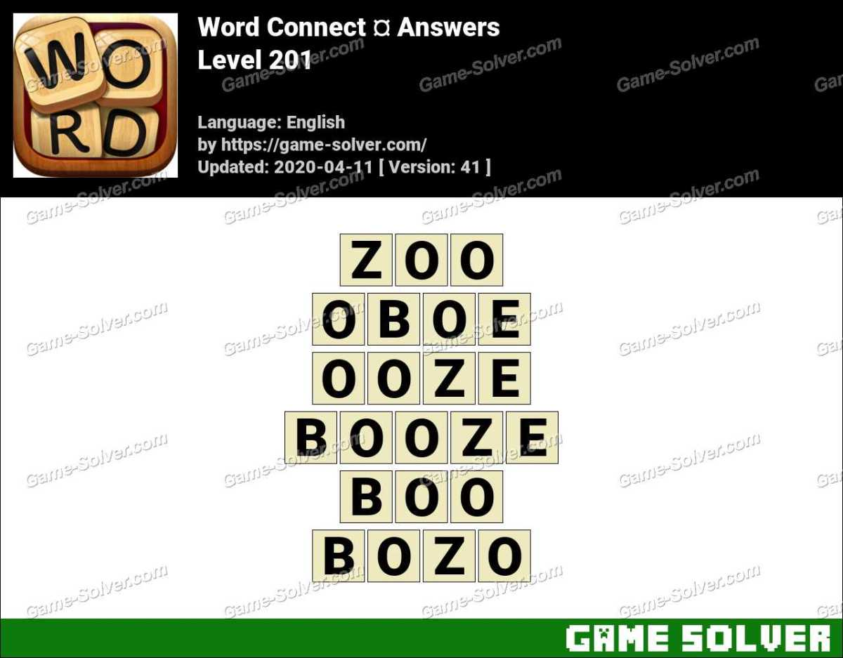 Word Connect Level 201 Answers