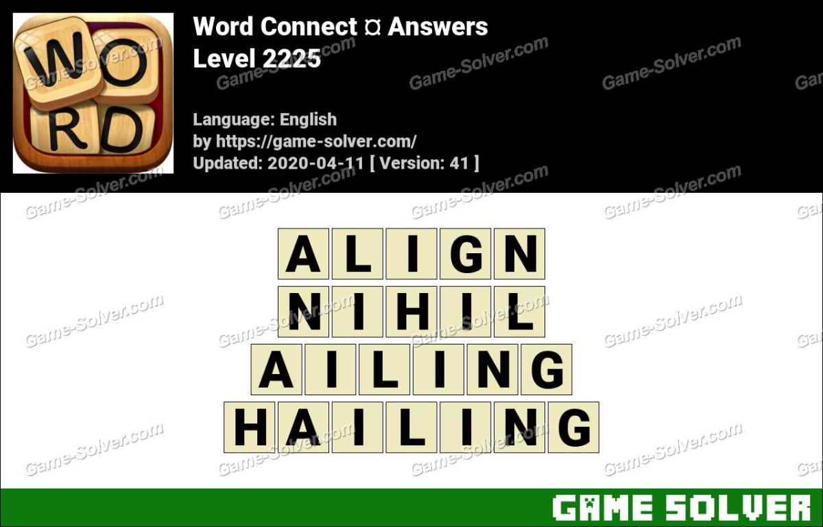 Word Connect Level 2225 Answers