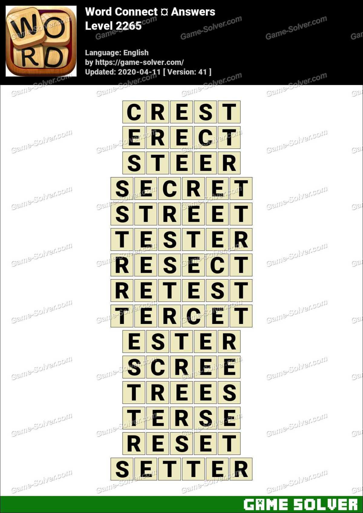 Word Connect Level 2265 Answers