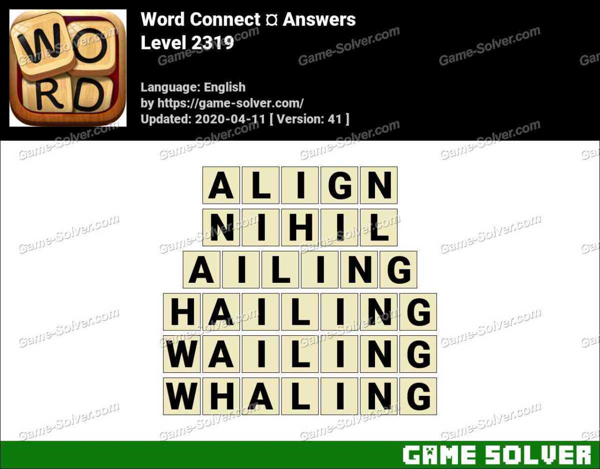 Word Connect Level 2319 Answers