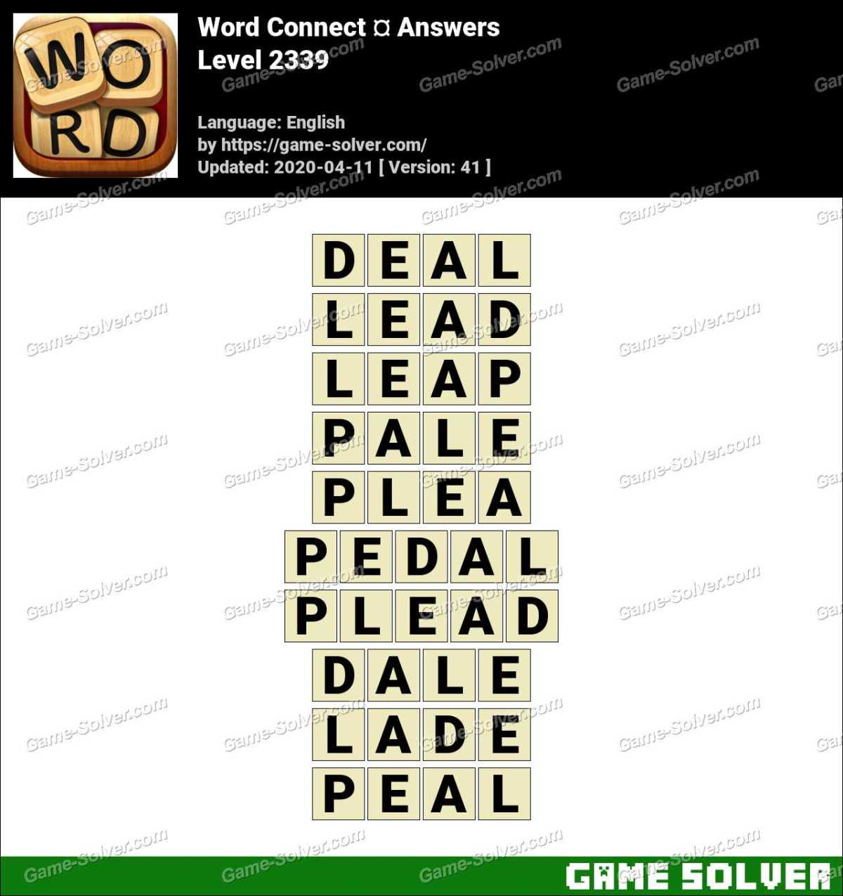 Word Connect Level 2339 Answers