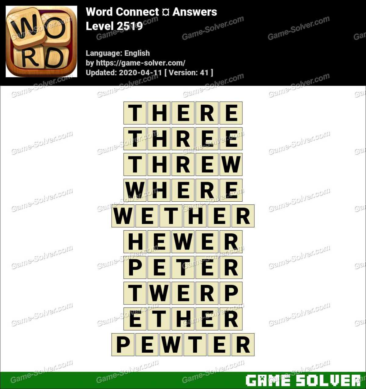 Word Connect Level 2519 Answers