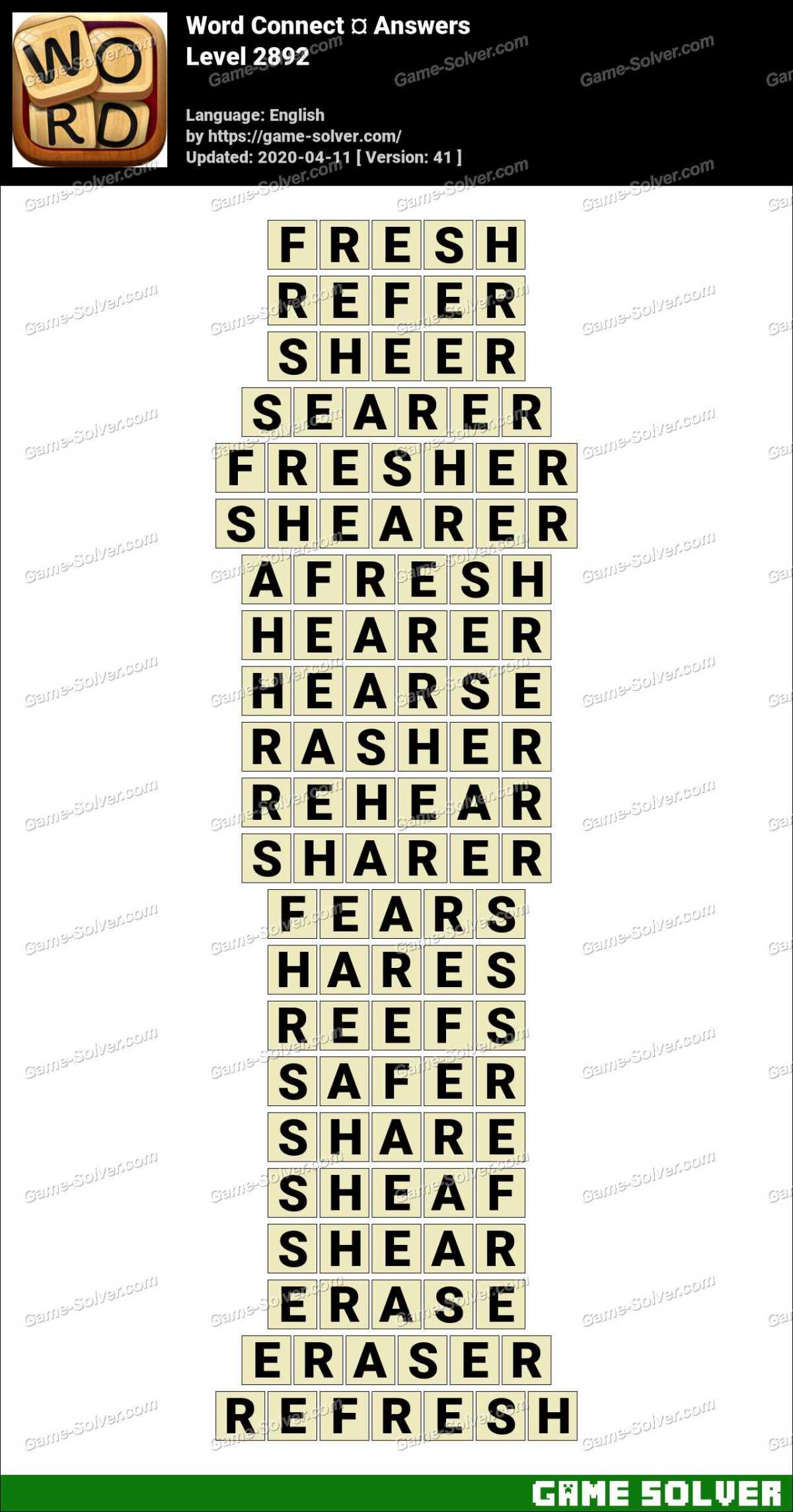 Word Connect Level 2892 Answers