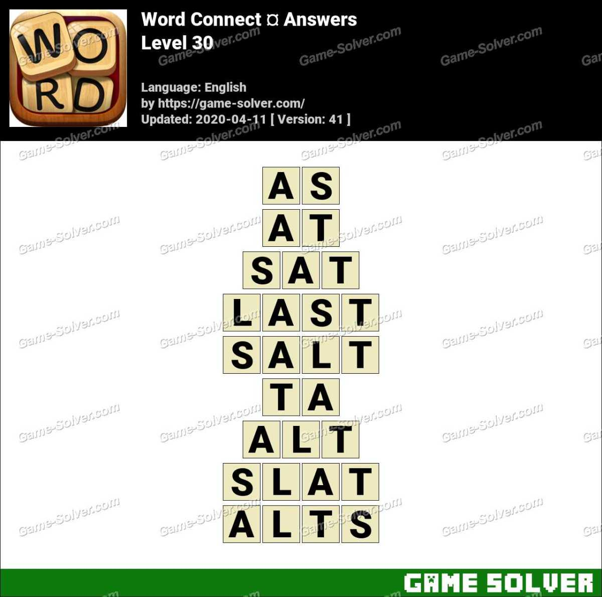 Word Connect Level 30 Answers