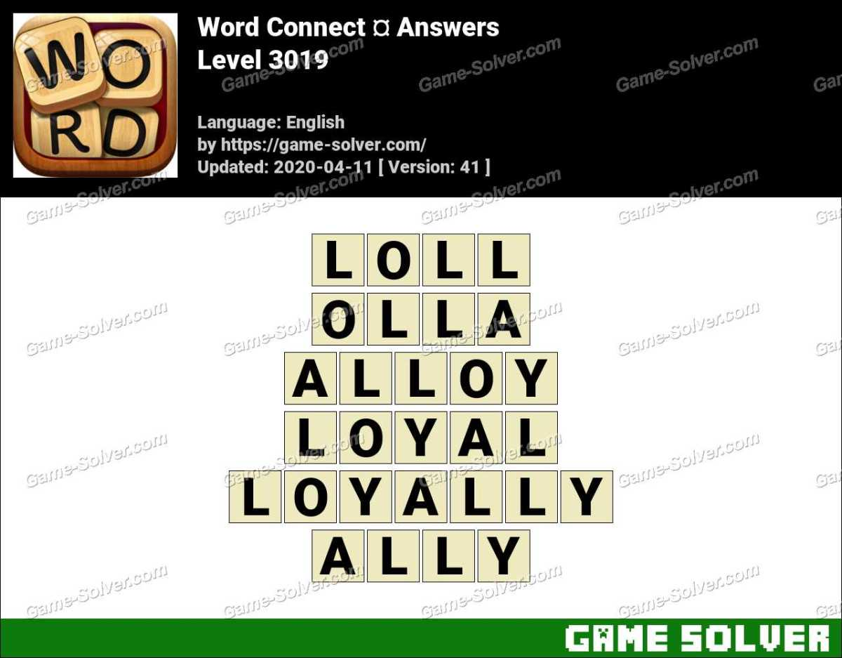 Word Connect Level 3019 Answers