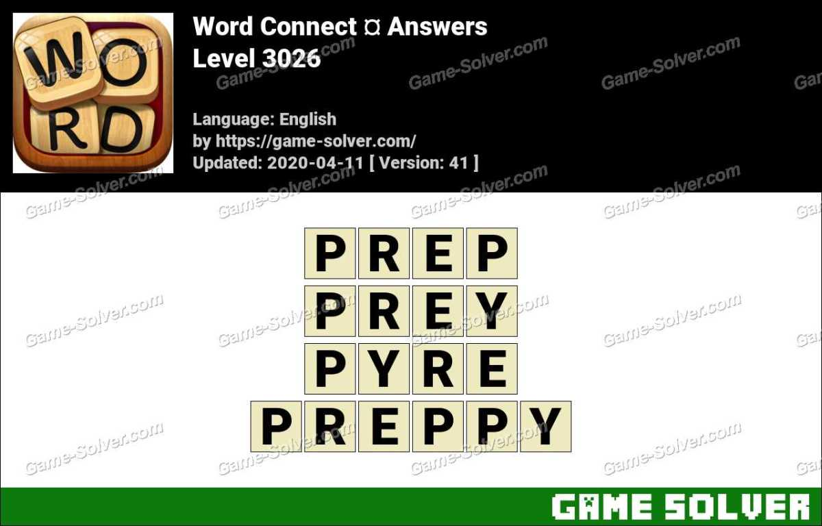 Word Connect Level 3026 Answers