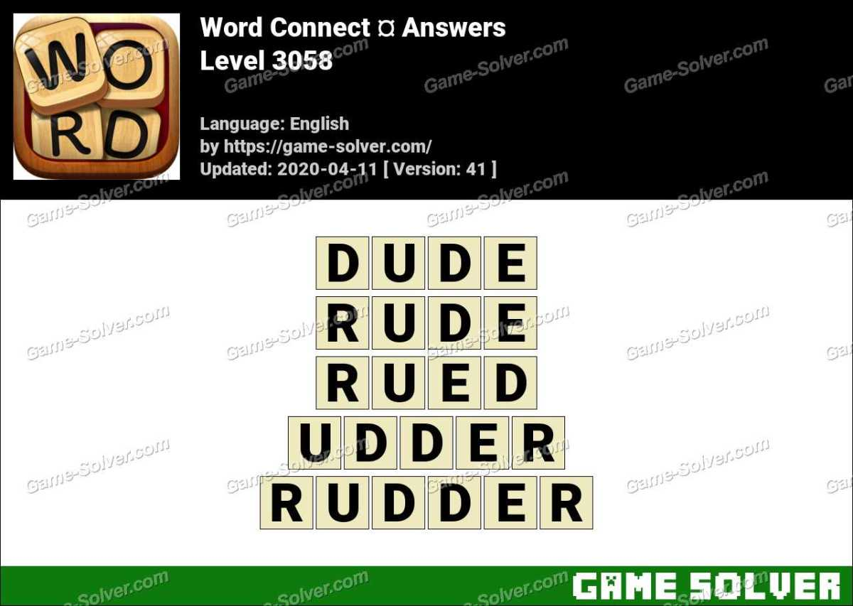 Word Connect Level 3058 Answers