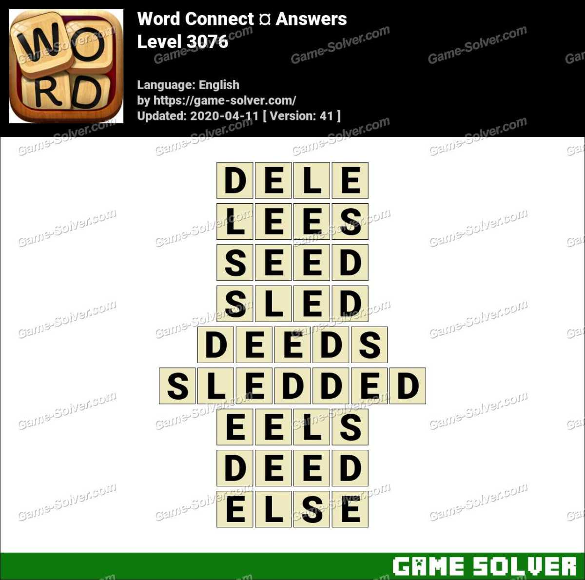 Word Connect Level 3076 Answers