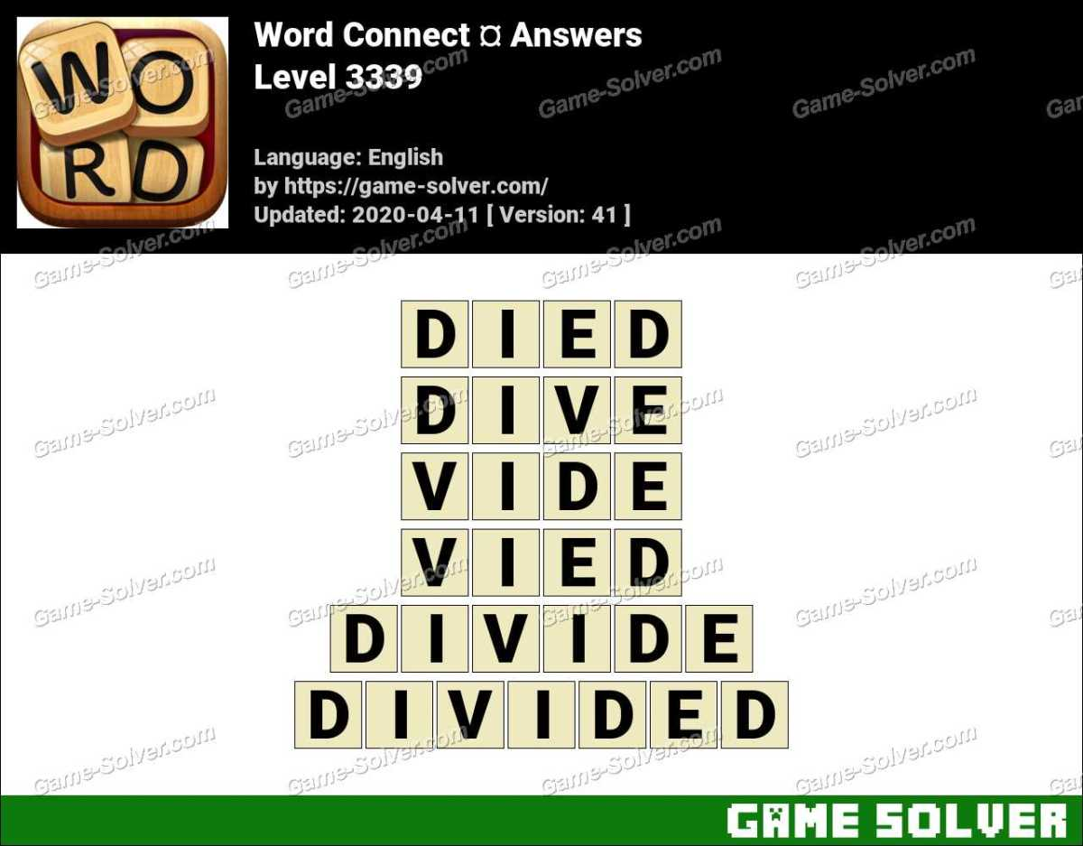 Word Connect Level 3339 Answers