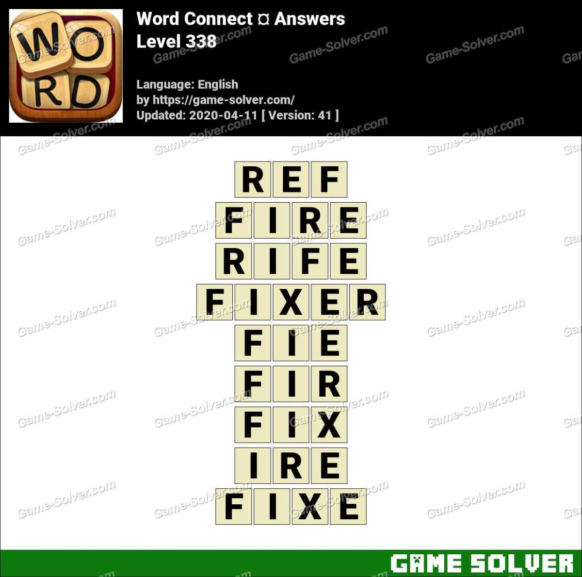 Word Connect Level 338 Answers