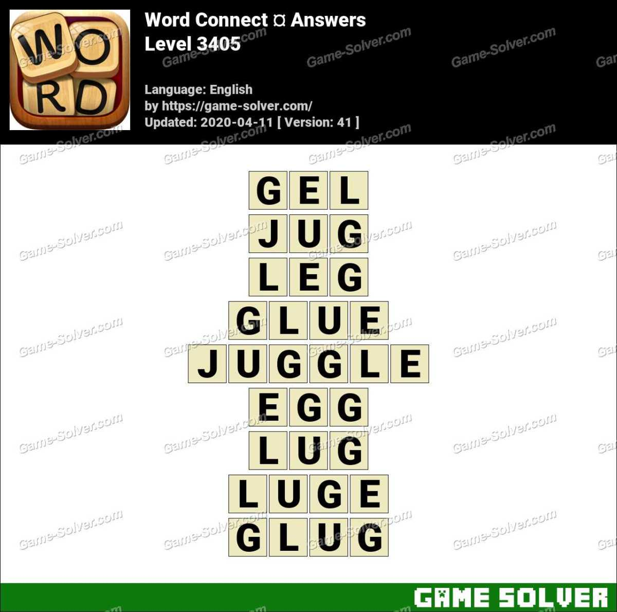 Word Connect Level 3405 Answers
