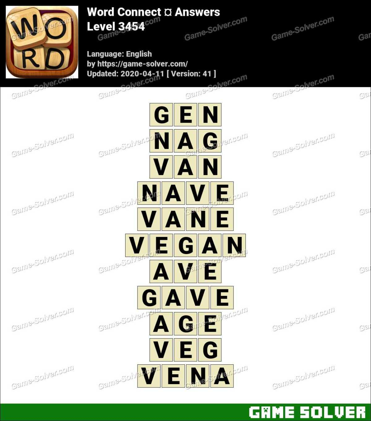 Word Connect Level 3454 Answers