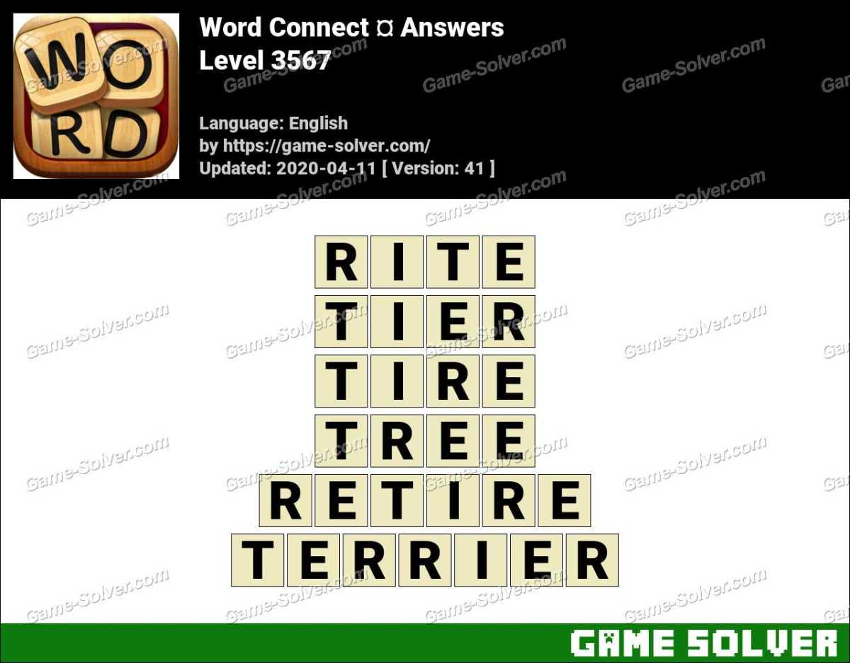 Word Connect Level 3567 Answers