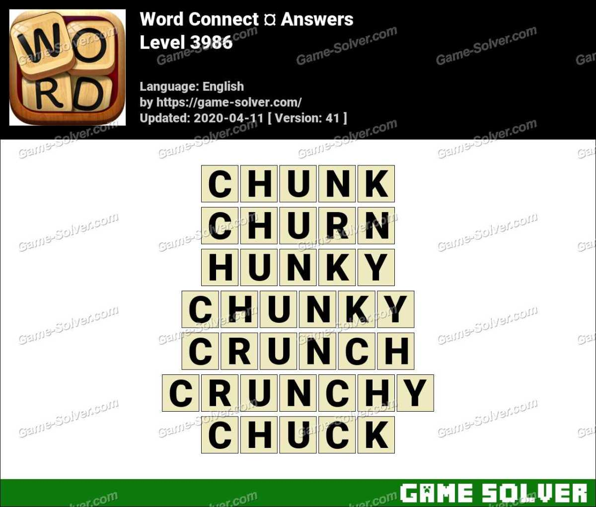 Word Connect Level 3986 Answers