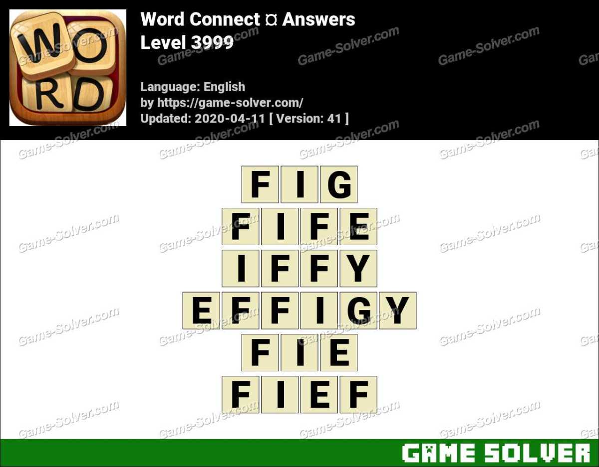 Word Connect Level 3999 Answers