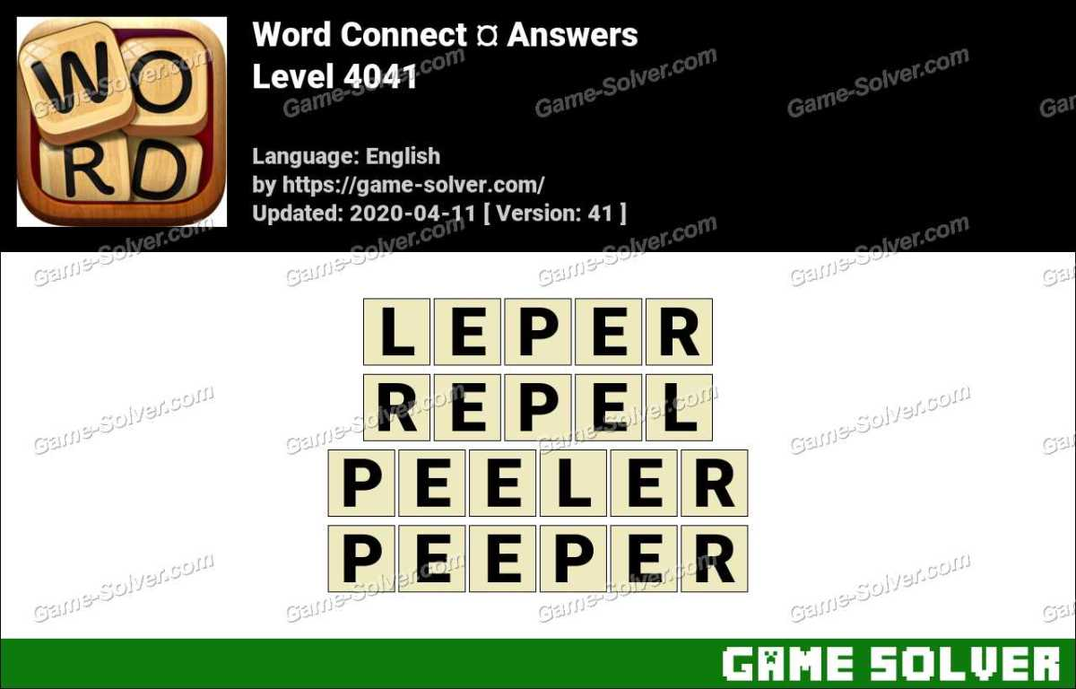 Word Connect Level 4041 Answers