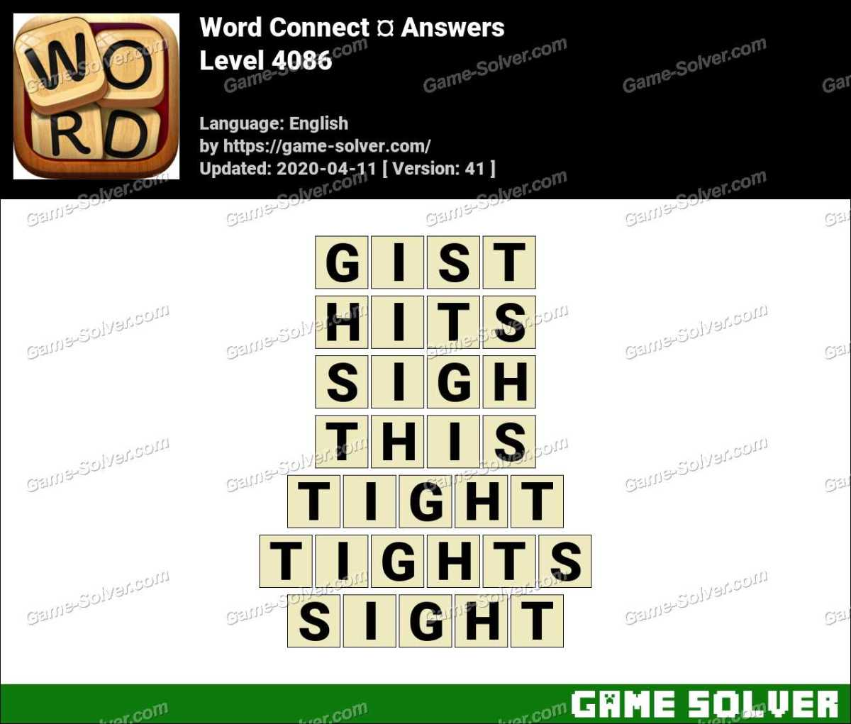 Word Connect Level 4086 Answers