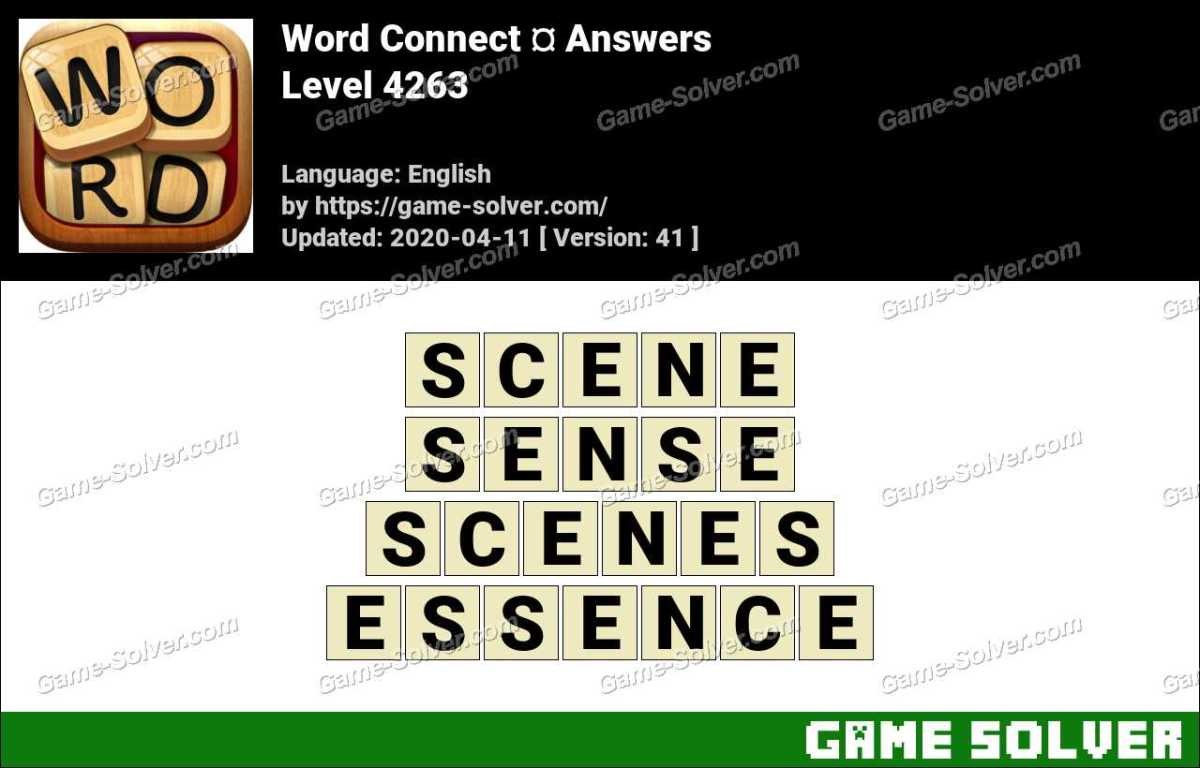 Word Connect Level 4263 Answers