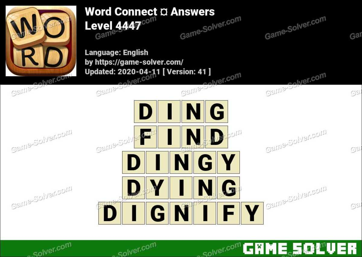 Word Connect Level 4447 Answers