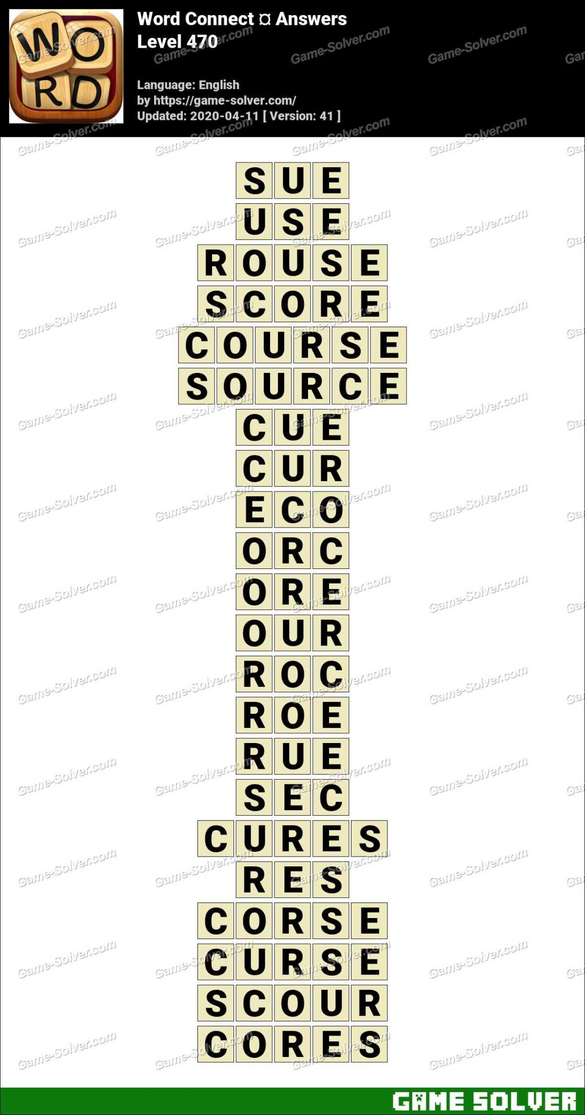 Word Connect Level 470 Answers