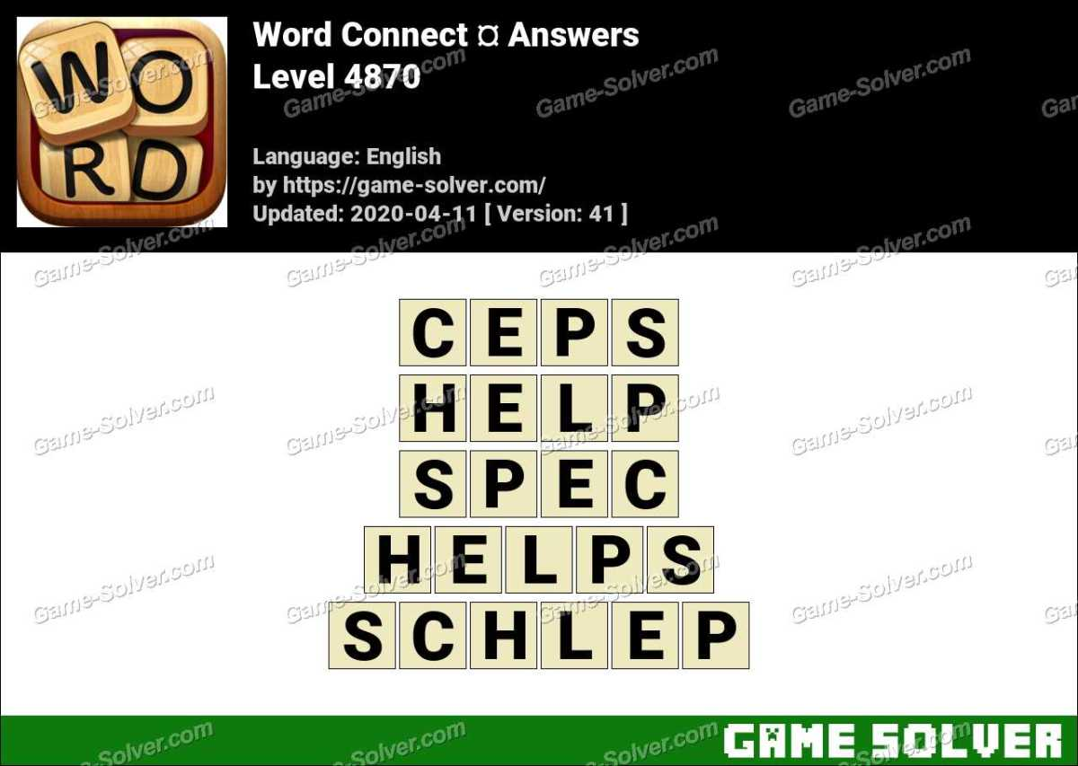 Word Connect Level 4870 Answers