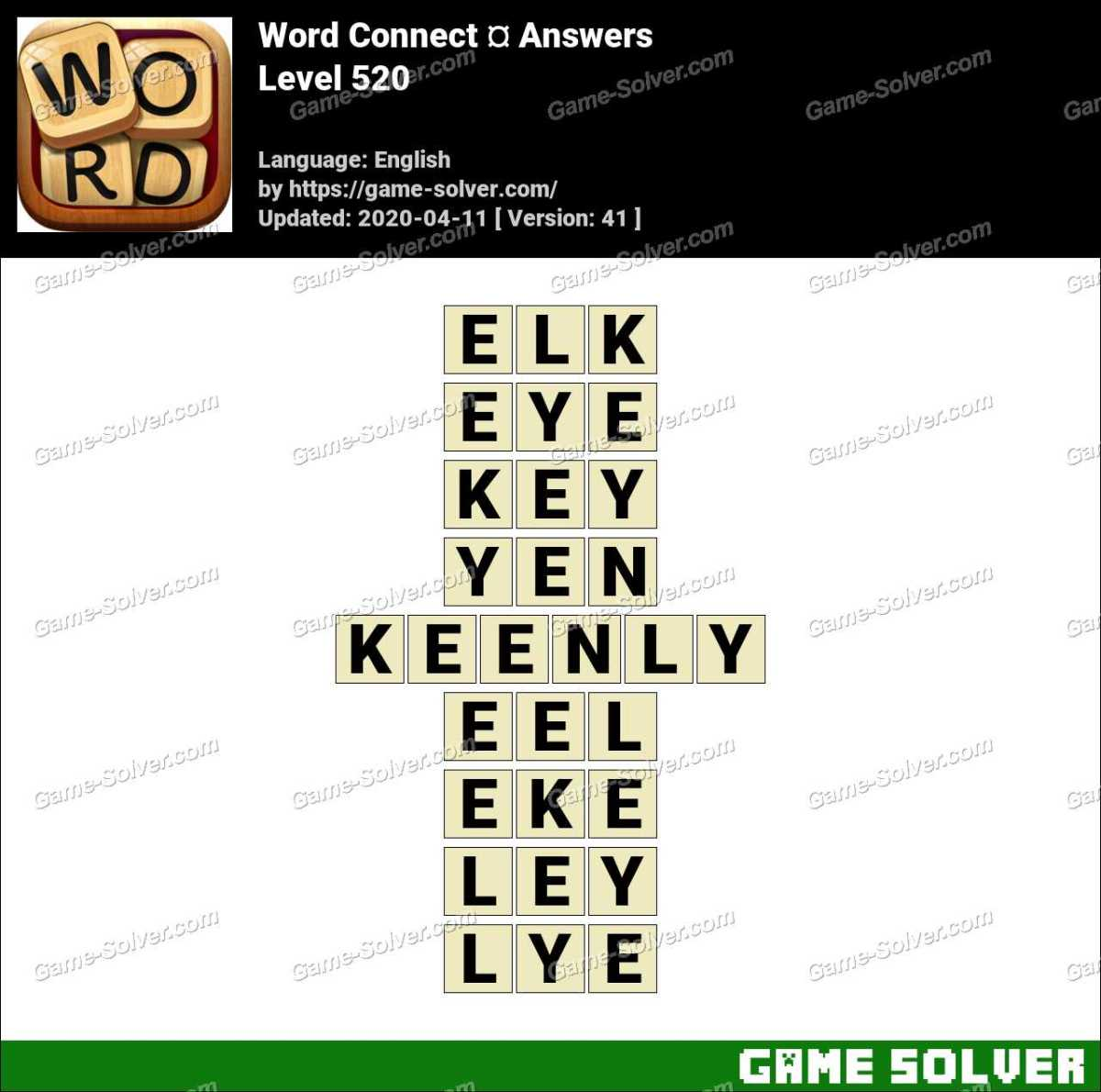 Word Connect Level 520 Answers