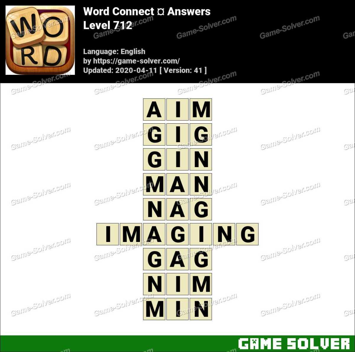 Word Connect Level 712 Answers