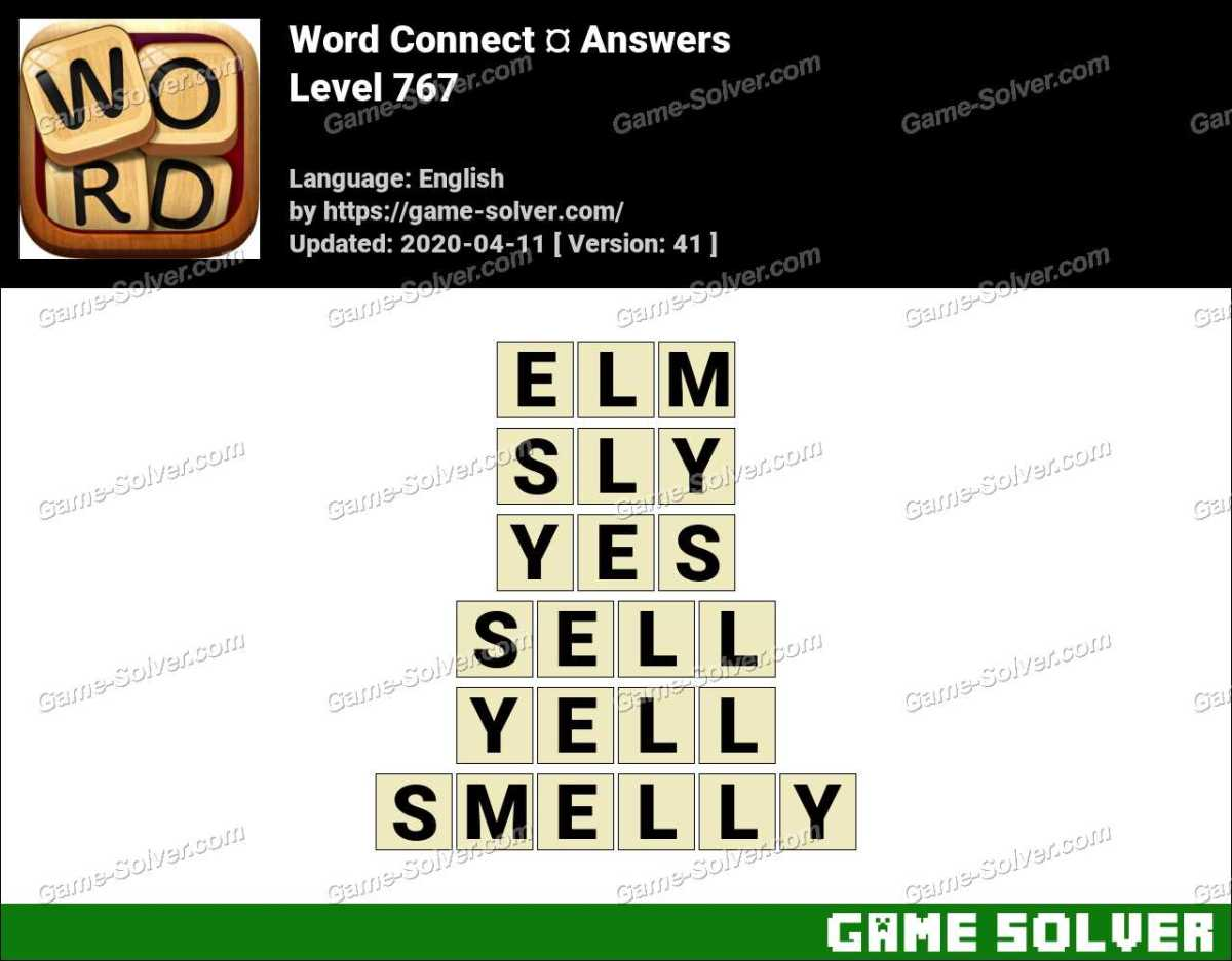 Word Connect Level 767 Answers
