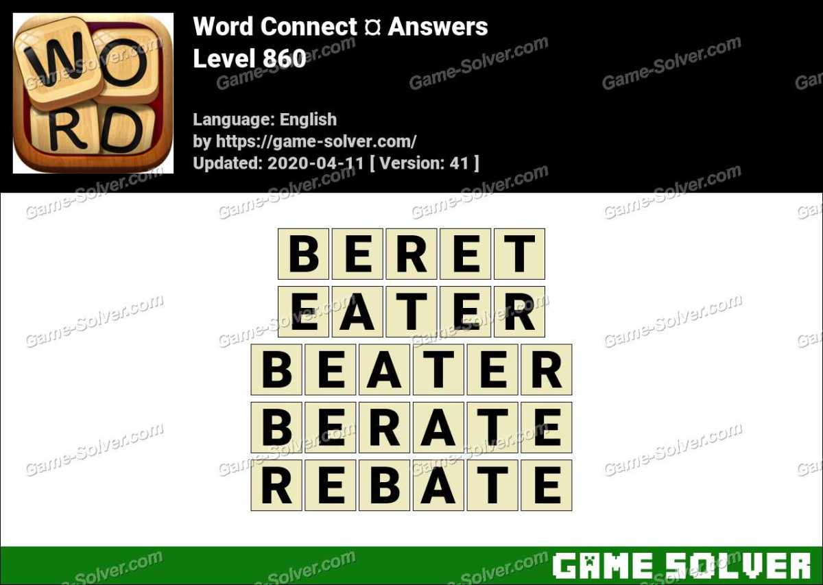 Word Connect Level 860 Answers
