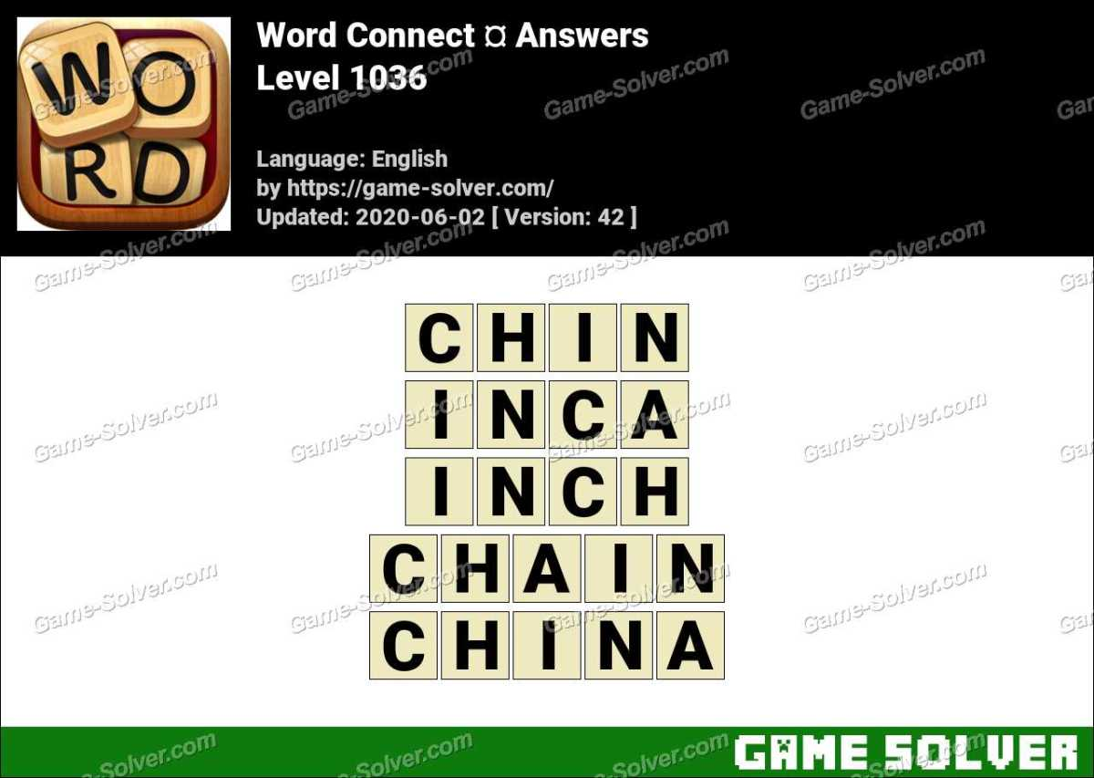 Word Connect Level 1036 Answers