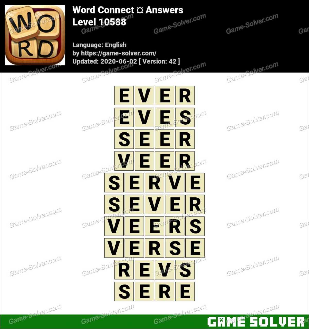Word Connect Level 10588 Answers