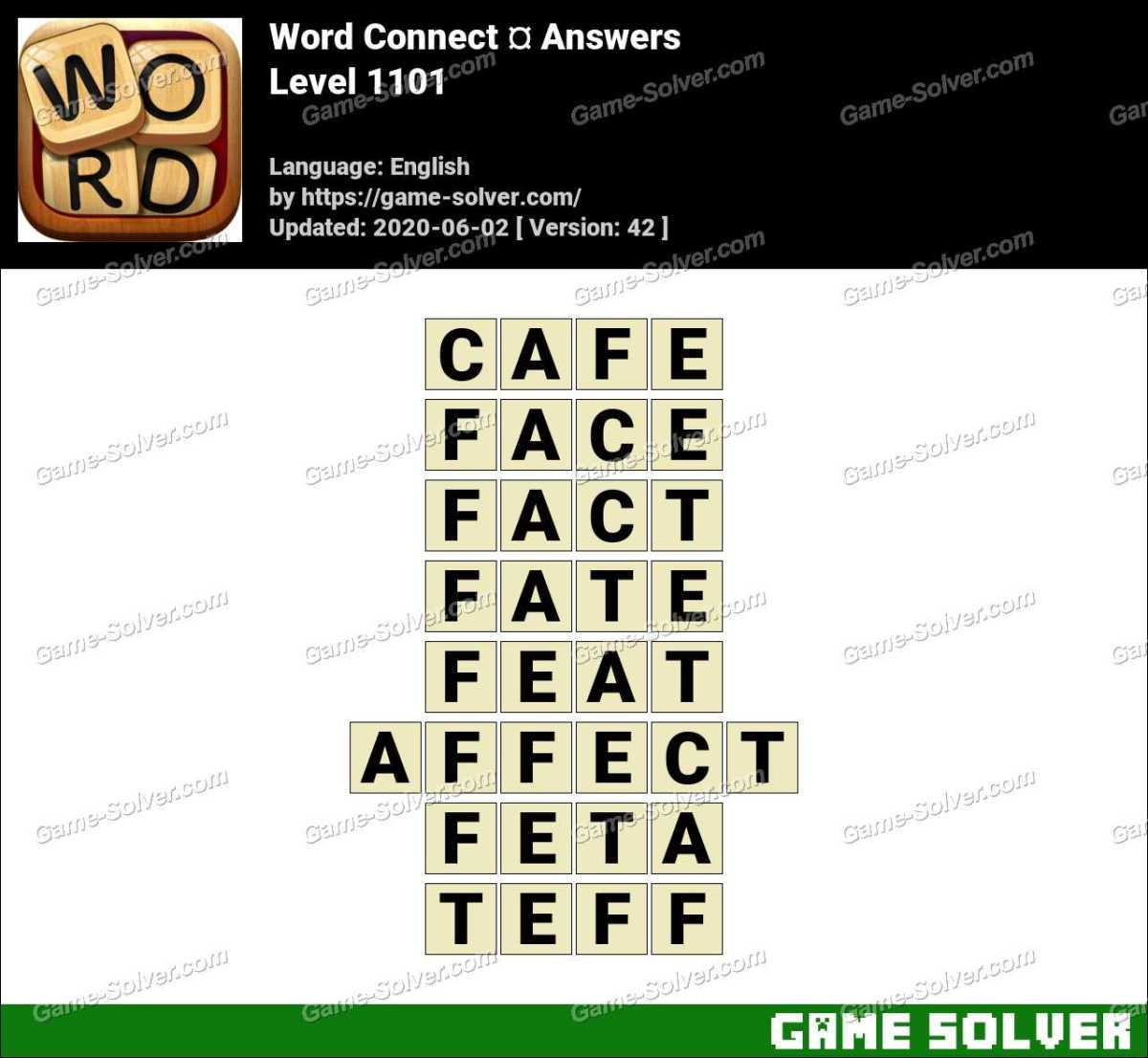 Word Connect Level 1101 Answers