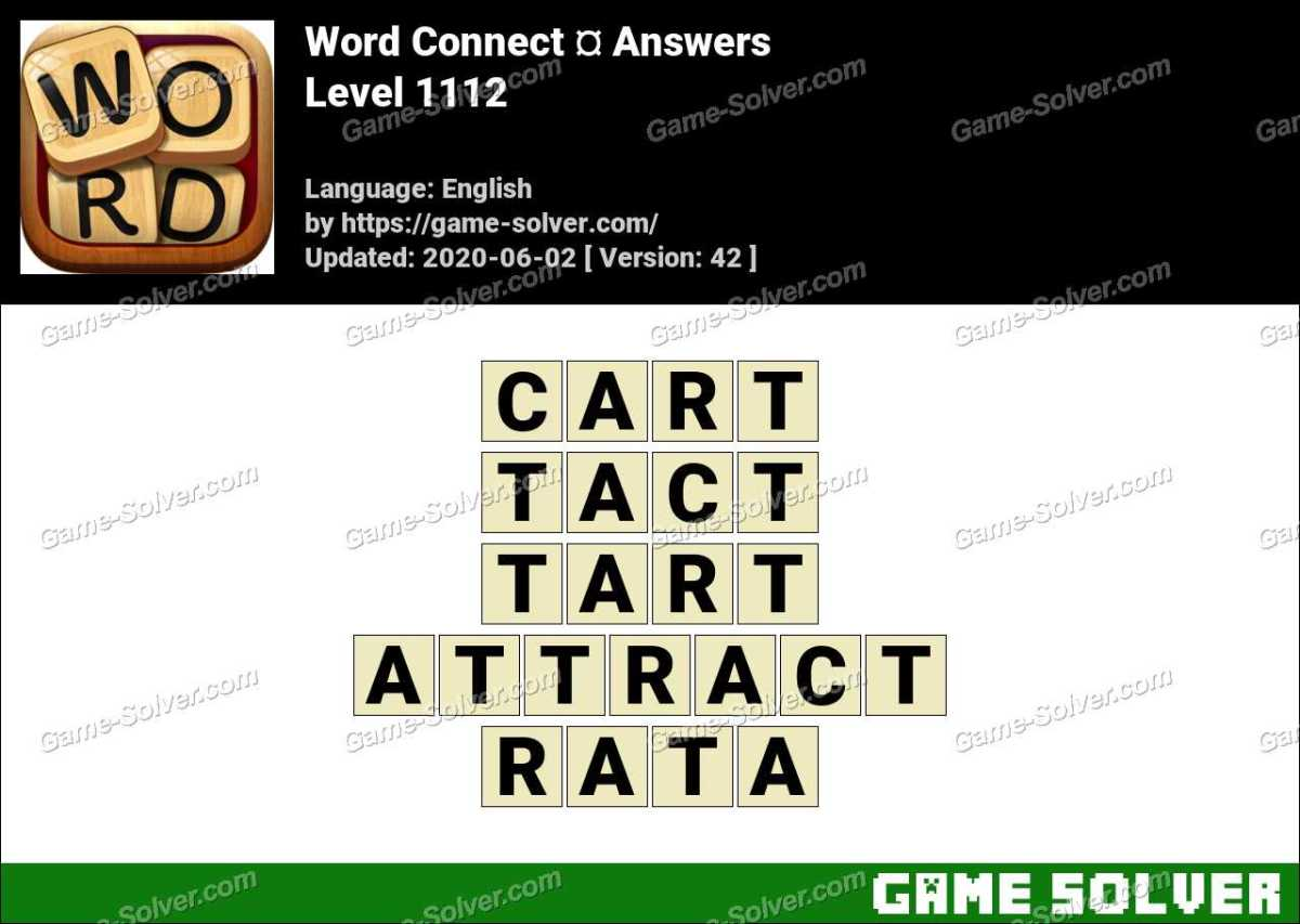 Word Connect Level 1112 Answers