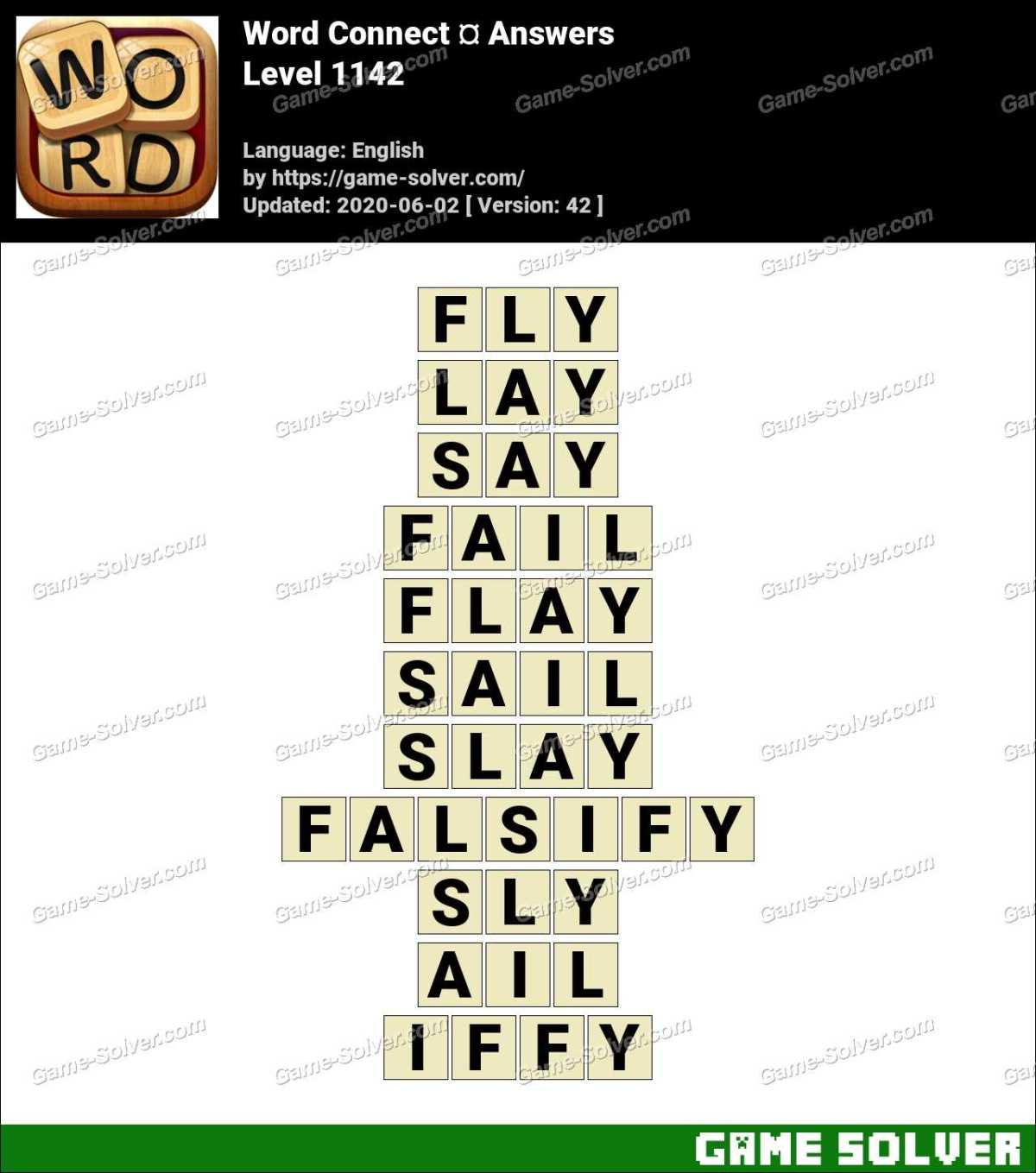 Word Connect Level 1142 Answers