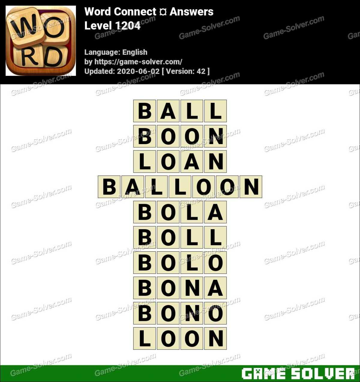 Word Connect Level 1204 Answers