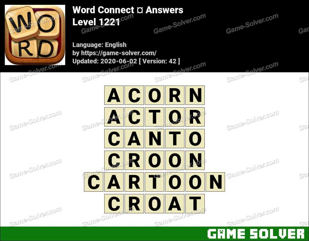 Word Connect Level 1221 Answers