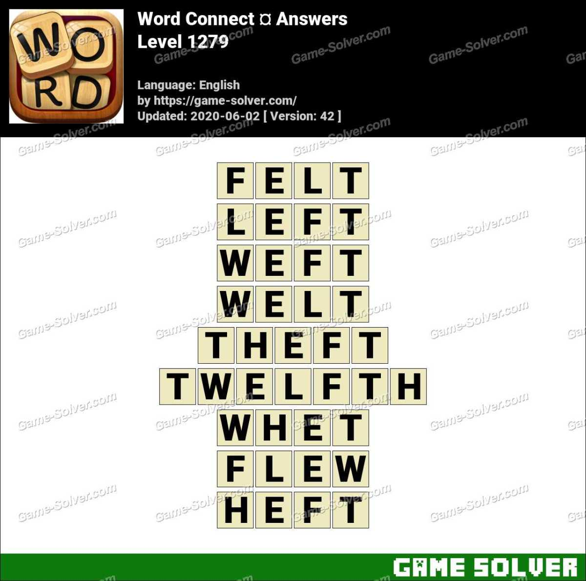 Word Connect Level 1279 Answers