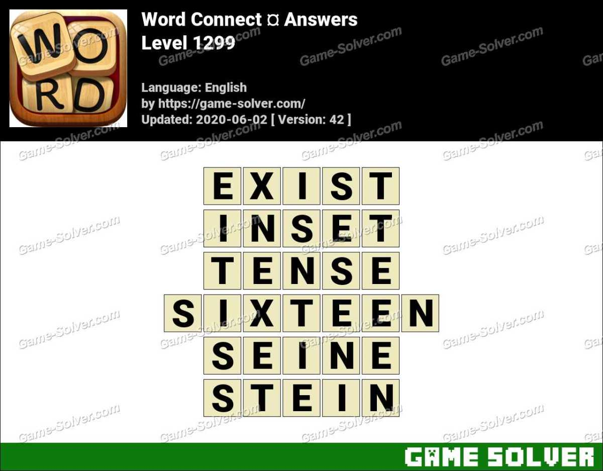 Word Connect Level 1299 Answers