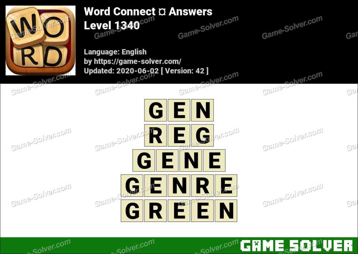 Word Connect Level 1340 Answers