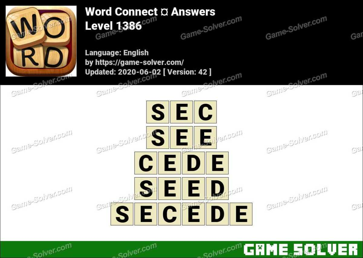 Word Connect Level 1386 Answers