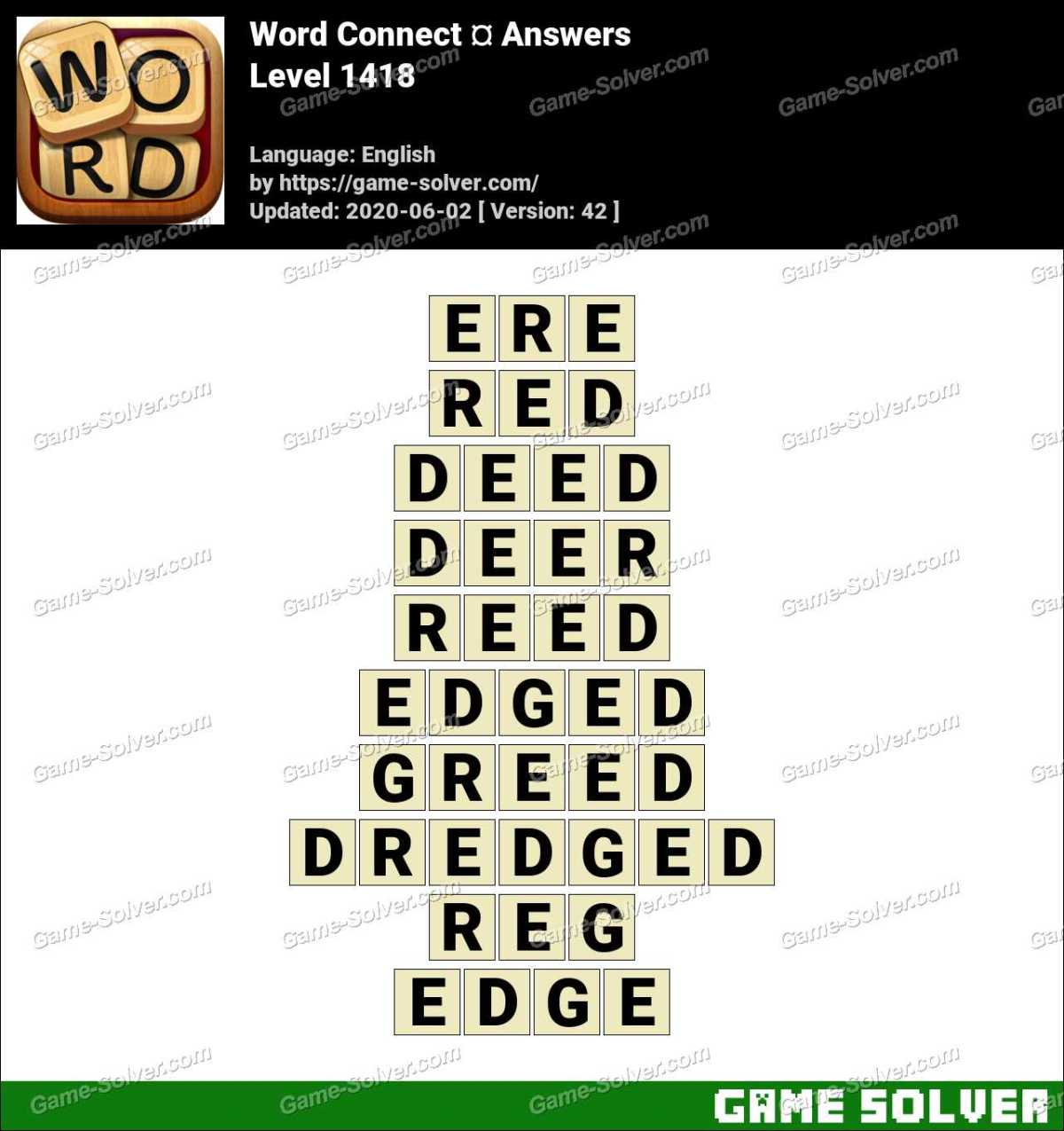 Word Connect Level 1418 Answers
